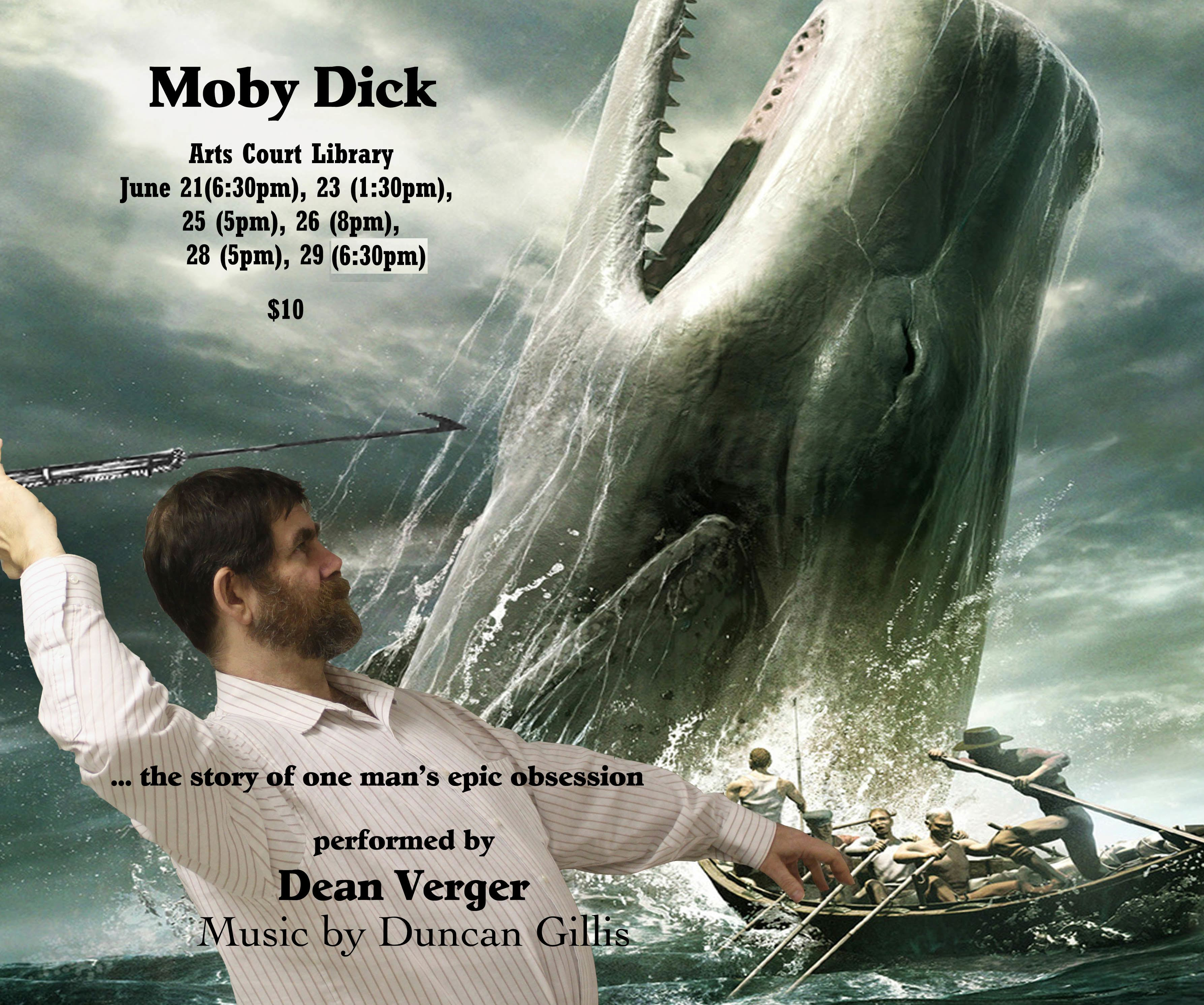 poster of Moby Dick show