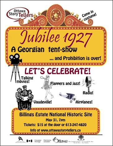 poster of the Jubilee 1927 event at Billings Estate