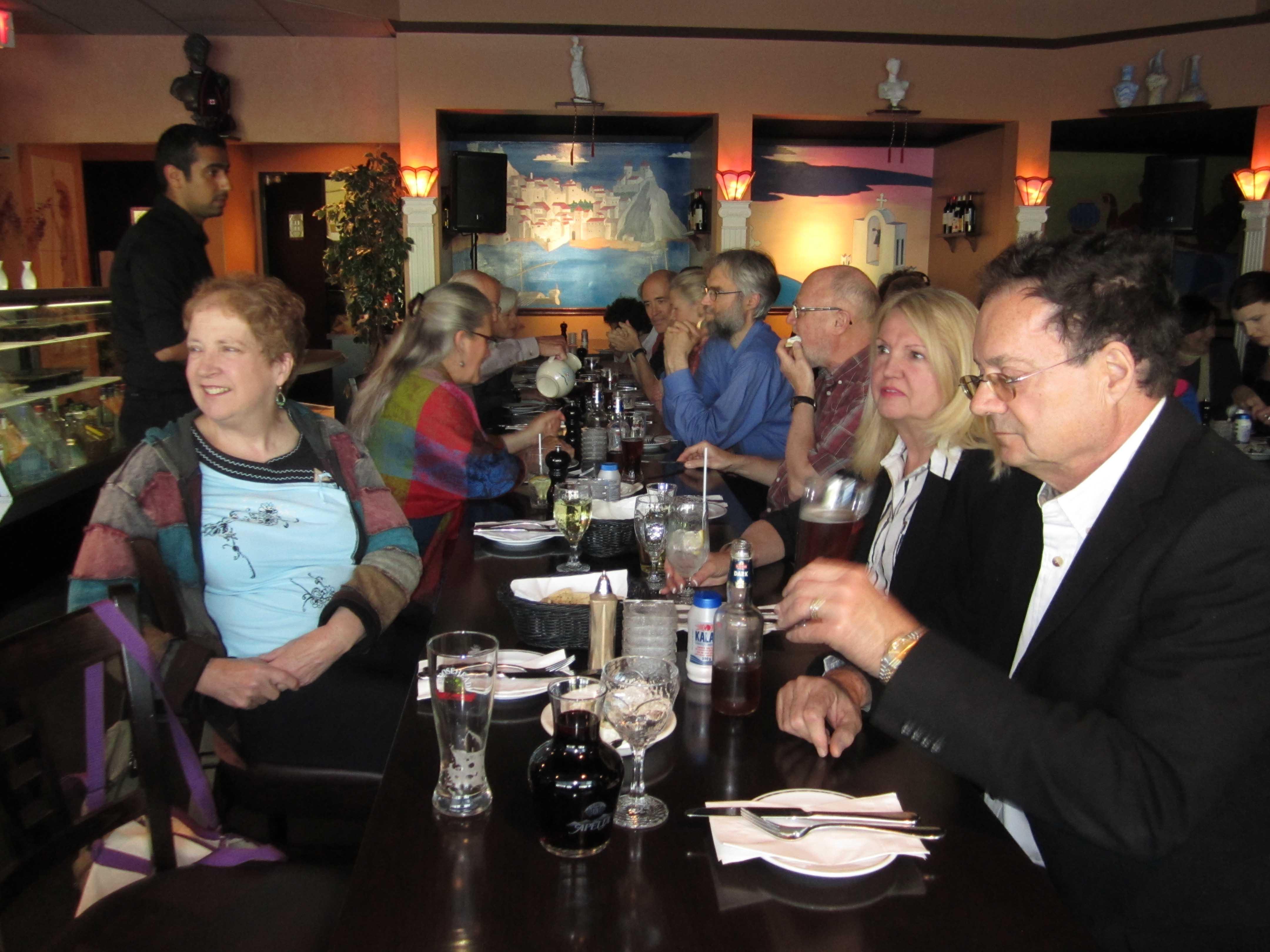 dinner at Theo's Greek Taverna