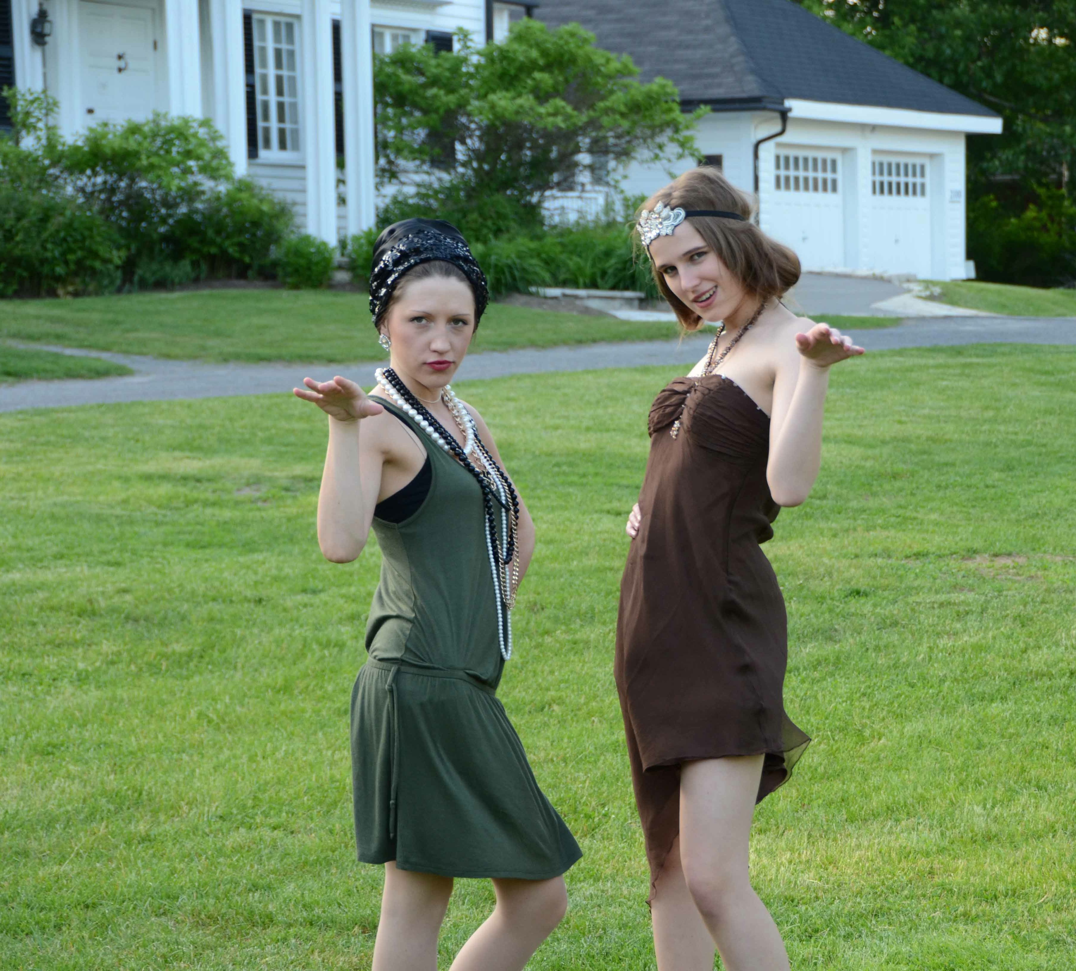 photo of two flappers